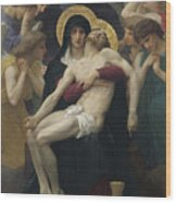 Pieta Wood Print by William Adolphe Bouguereau