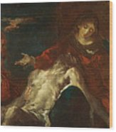 Pieta With Mary Magdalene Wood Print