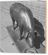 Pig Sculpture Grand Junction Co Wood Print