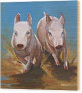 Pig Sooie Wood Print