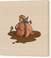 Pig Tales Wood Print by Andy Catling