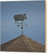Pig Weathervane Ocean Isle North Carolina Wood Print