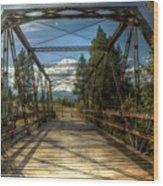 Pigeon Bridge Wood Print