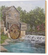 Pigeon Forge Mill Wood Print
