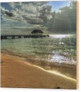 Pigeon Point Beach Tobago Wood Print