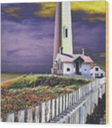 Pigeon Point Wood Print