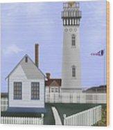 Pigeon Point Lighthouse California Wood Print