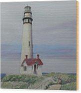 Pigeon Point Lighthouse Wood Print