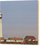 Pigeon Point Lighthouse On California's Pacific Coast Wood Print