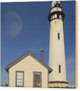 Pigeon Point Lighthouse Wood Print by Wingsdomain Art and Photography