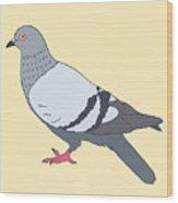 Pigeon Yellow Wood Print