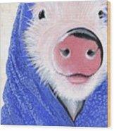 Piglet In A Blanket Wood Print