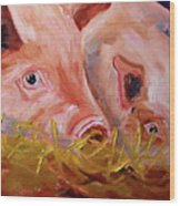 Piglet Pair Wood Print