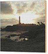 Pigion Point Lighthouse 1 Wood Print