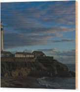 Pigon Point Lighthouse Wood Print