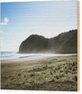 Piha, New Zealand Wood Print