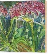 Piinta The Butterfly Flower Wood Print