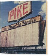 Pike Drive-in Wood Print