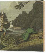 Pike Fishing Wood Print