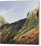 Pike O' Stickle And Loft Crag Wood Print
