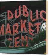 Pike Place Market Entrance 5 Wood Print