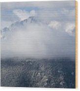 Pikes Peak In Snow Wood Print