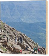 Pikes Peak Marathon And Ascent Wood Print