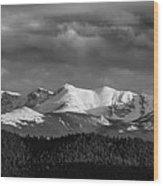 Pike's Peak Or Bust Wood Print