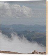 Pikes Peak Summit Clouds Wood Print