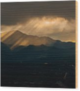 Pikes Peak Sunset Wood Print