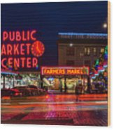 Pikes Place Market Wood Print