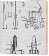 Pile Driver, Fire Engine, Steam Engine Wood Print
