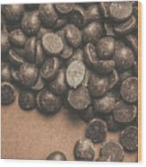 Pile Of Chocolate Chip Chunks Wood Print