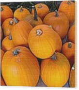 Pile Of Pumpkins For Sale Expressionist Effect Wood Print