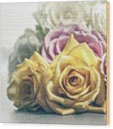 Pile Of Roses Wood Print