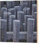 Piles Wood Print