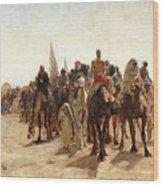 Pilgrims Going To Mecca Wood Print