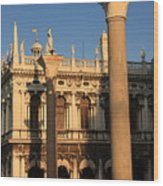 Pillars At Piazzetta San Marco In Venice Wood Print