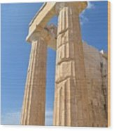 Pillars Of The Parthenon Wood Print