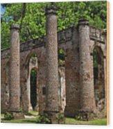 Pillars Wood Print