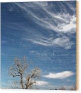 Pillow Clouds Wood Print