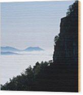 Pilot And Sauertown And Hanging Rock Mountains Wood Print