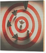 Pin Point Your Target Audience Wood Print