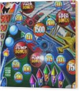 Pinball Wizard-the Signs Of The Times Collection Wood Print