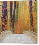 Pine Bank Splendor Wood Print