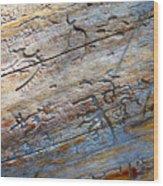 Pine Beetle Etchings Wood Print