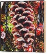Pine Cone Ornament Wood Print