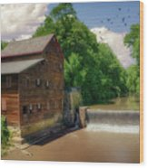 Pine Creek Gristmill Wood Print