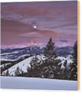 Pine Creek Pass Wood Print