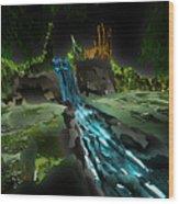 Pine Falls Wood Print